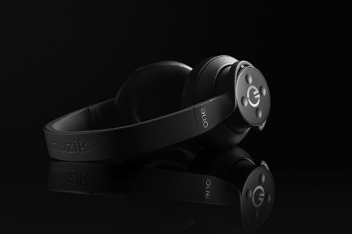 These headphones have built-in Spotify controls