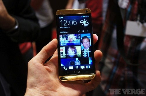 Hands-on with HTC's ostentatious golden One