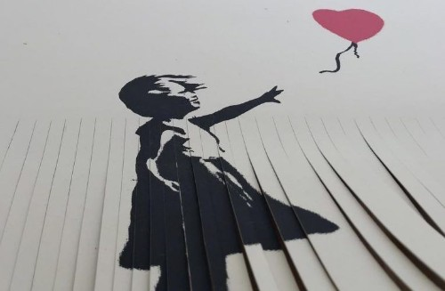 Please don't shred your own Banksy print unless you want it to be worth £1