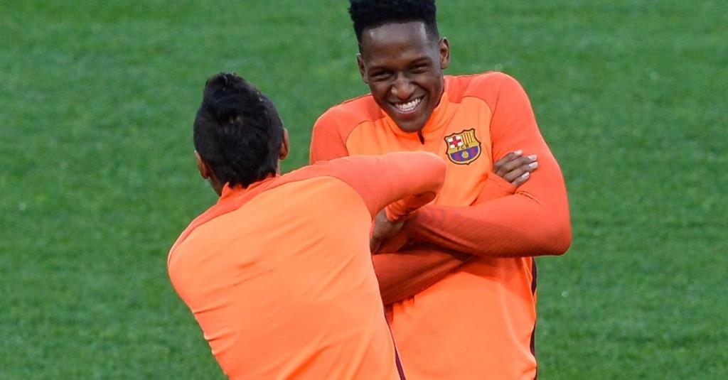Yerry Mina tells great story about free-kicks in Barcelona training