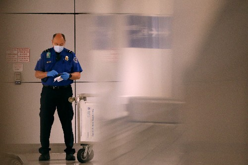 What are TSA agents doing now that hardly anyone is flying?