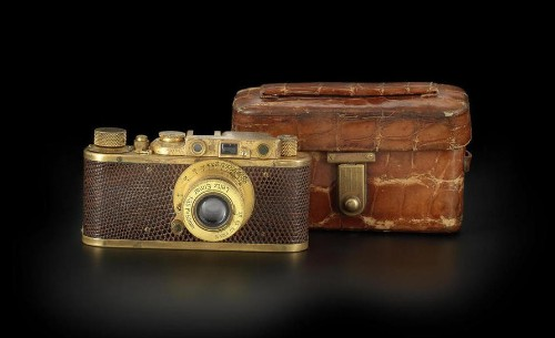 Rare gold-plated Leica Luxus II could fetch $1.6 million at auction