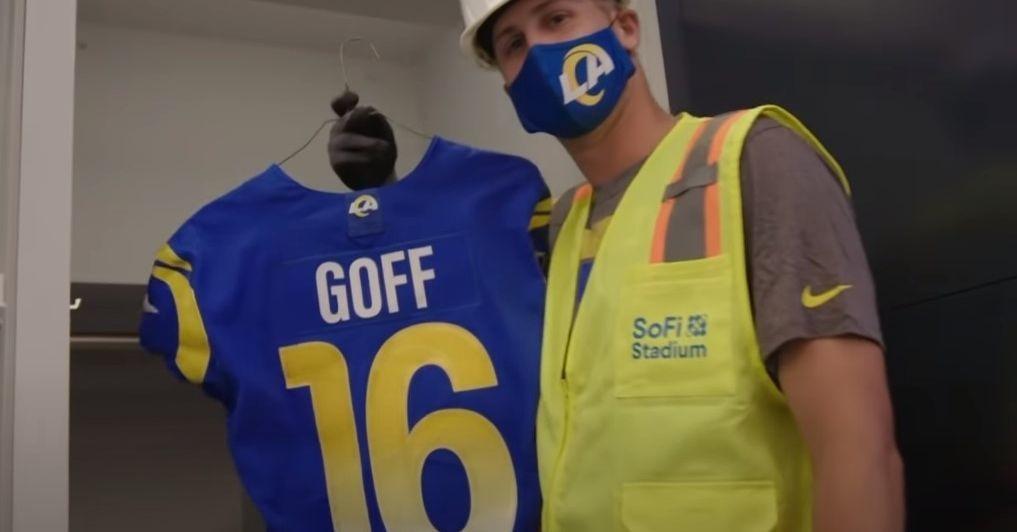 Jared Goff tours SoFi Stadium
