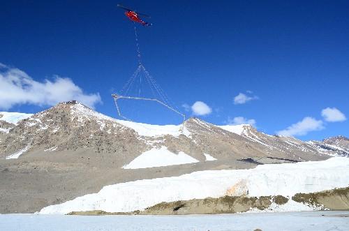 Hidden water below Antarctica provides hope for life on Mars