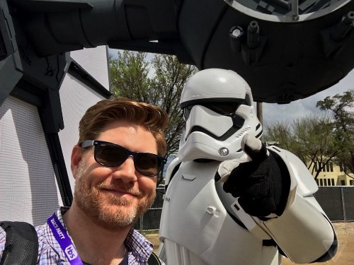 Of course Disney brought a life-sized TIE Fighter to Austin, Texas