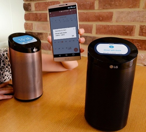 LG's smart home hub looks like an Amazon Echo with a screen