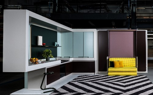 Micro apartment design shape-shifts to maximize space