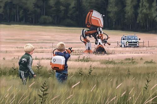 Amazon is turning Simon Stålenhag's haunting retro sci-fi paintings into a TV series
