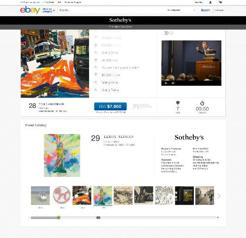 eBay launches high-end auctions with Sotheby's
