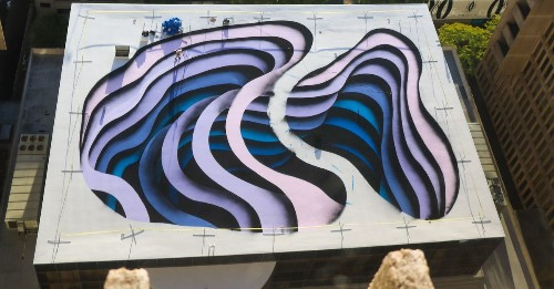 Photos: Downtown Atlanta rooftop is being decorated with one amazing mural right now