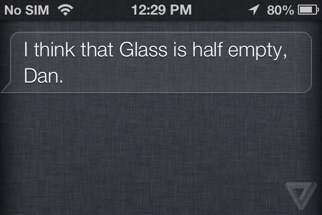 Siri just started a beef with Google Glass