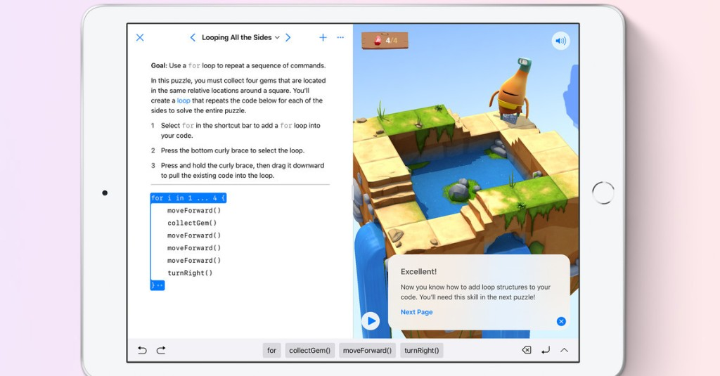 Apple's free learn-to-code Swift Playgrounds sandbox arrives on Mac