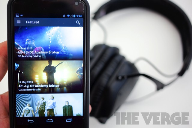 Soundhalo for Android serves up professionally mixed videos as a concert unfolds