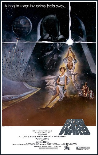 This illustration of the entire Star Wars: Episode IV plot is over 400 feet long