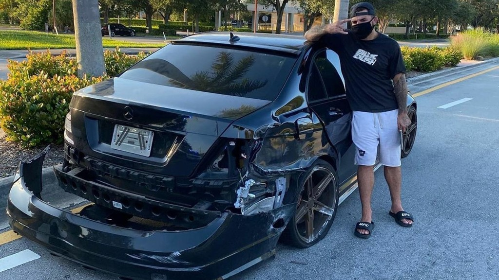 Mike Perry posts pic of wrecked Mercedes ahead of UFC 255 - '$60K down the toilet'