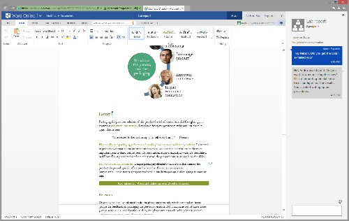 Microsoft is bringing chat to its Word and PowerPoint web apps