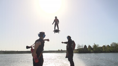 Yes, the jet-powered hoverboard is real, and yes, the creator has crashed it