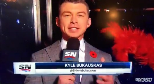 I have no idea how this reporter didn't laugh when Gritty caressed him and blasted him with silly string mid-broadcast