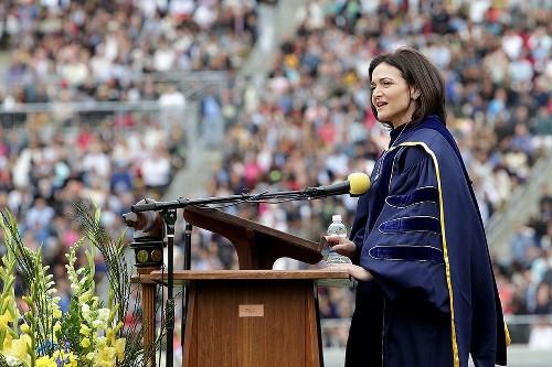 Sheryl Sandberg just gave an incredible, emotional speech to college grads