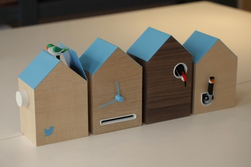 Twitter UK shows off #Flock, a cuckoo clock powered by tweets