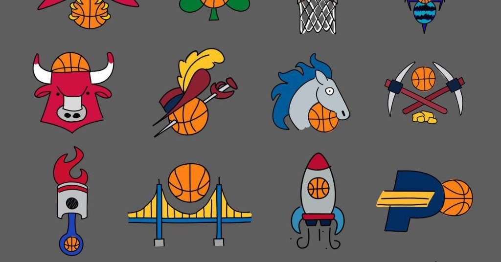 These goofy simplified NBA logos are deeply relatable