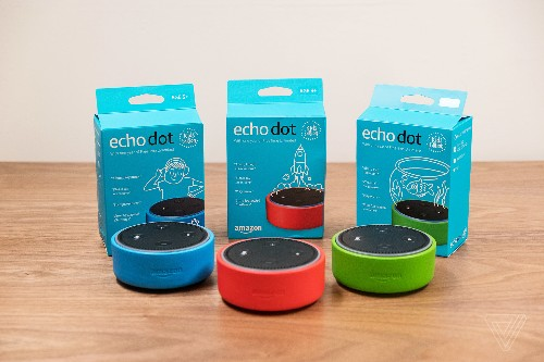 Amazon's new Echo Dot Kids Edition comes with a colorful case and parental controls