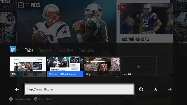 Xbox One includes Kinect gestures for Internet Explorer browsing