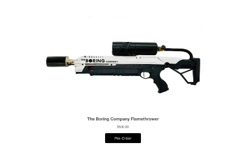 Elon Musk has sold all his flamethrowers