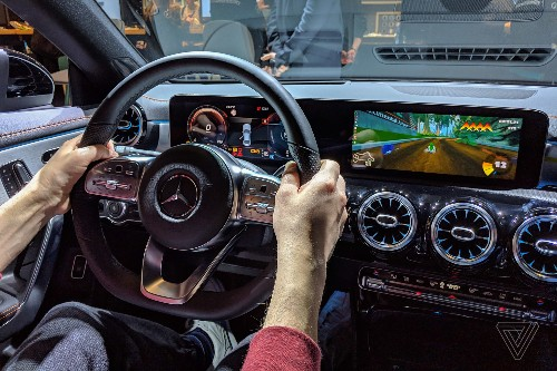I used a Mercedes-Benz as a Mario Kart controller, and it was amazing