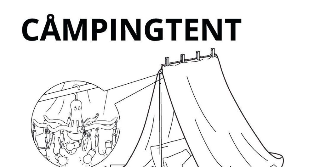 How to build a play fort, according to Ikea