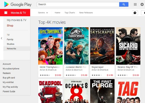 Google Play is upgrading your movie purchases to 4K for free