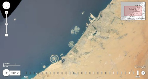 Google's Timelapse project shows how the Earth has changed over a quarter of a century