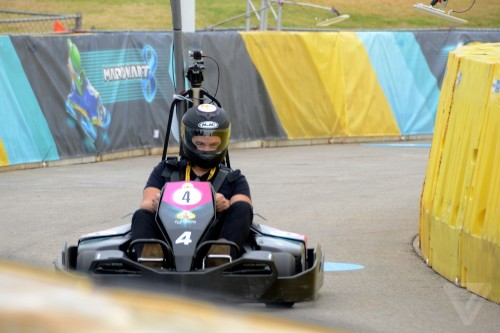 'Mario Kart' in real life is real weird