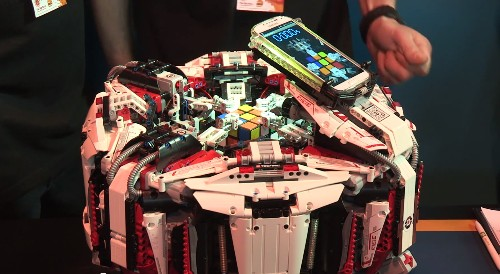 Lego robot crushes Rubik's Cube world record with superhuman speed