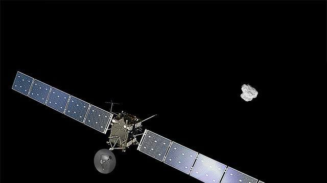 Rosetta spacecraft is now orbiting a comet 249 million miles away