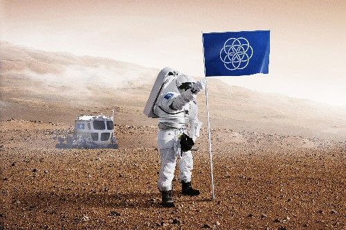 This is the flag we'll plant when we conquer an alien planet