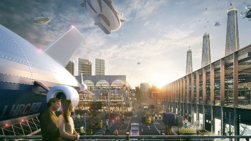This is what London's Heathrow airport would look like as a futuristic city