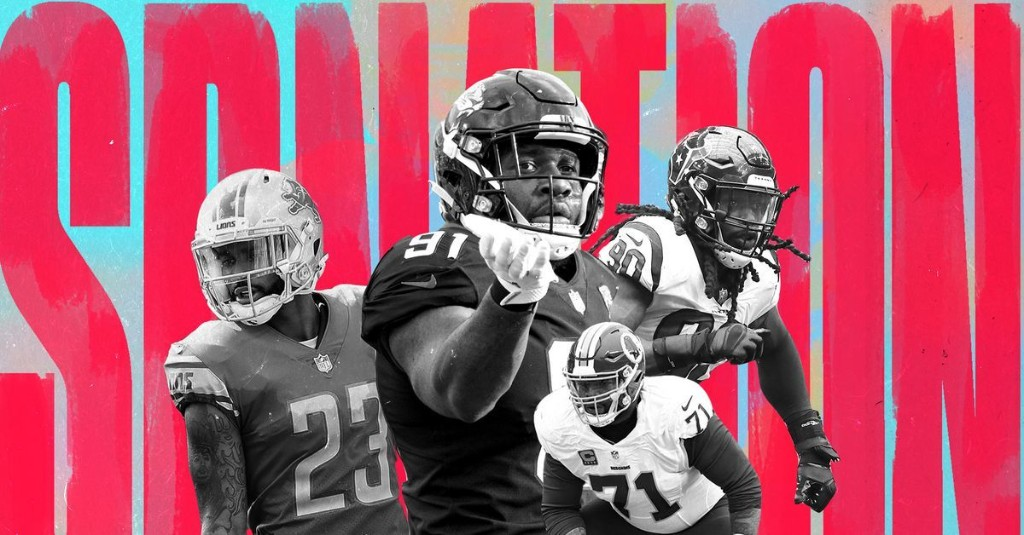 Which NFL players held out from training camp in 2019?