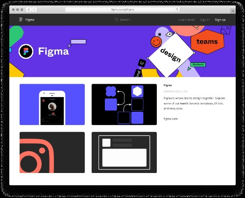 Figma's new community profiles let users view and remix design files