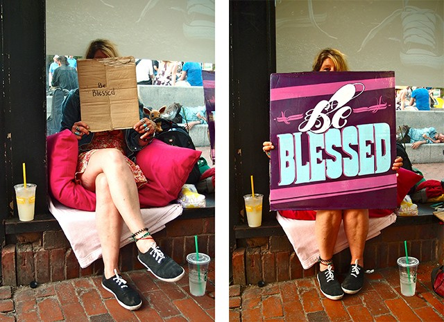 Artists help the homeless with elegant typography
