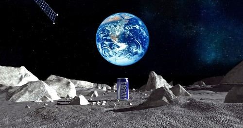 A Japanese drink company is putting the first billboard on the moon