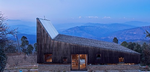 Striking mountain home frames stunning views of the Himalayas