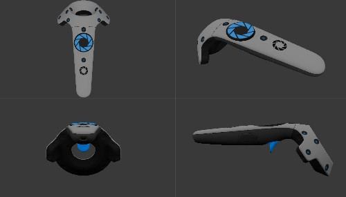 SteamVR can give your Vive controllers a Portal-themed makeover