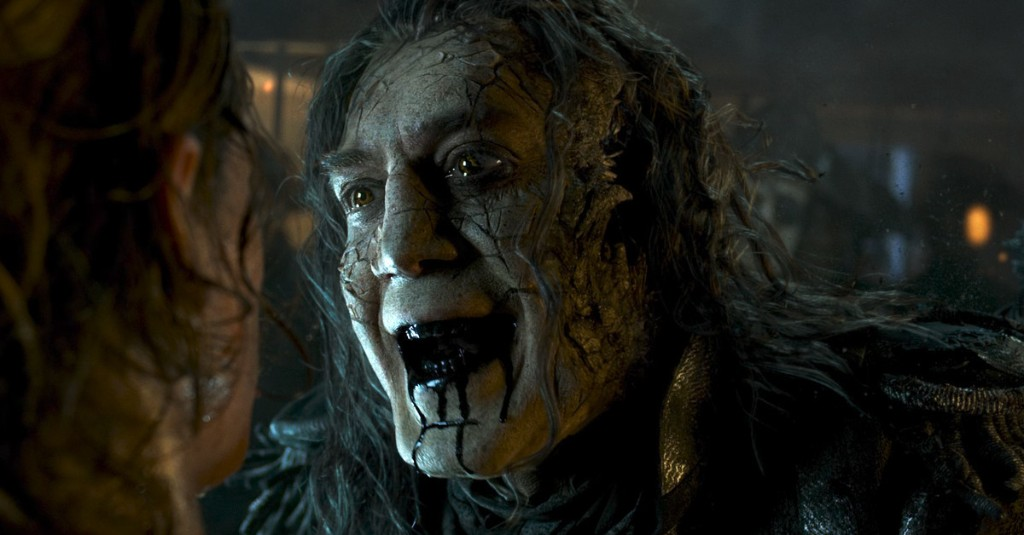 Javier Bardem leaking black goo in Pirates of the Caribbean reminds me of something