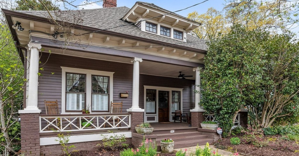 At $669K, updated 1920s bungalow is Inman Park's least expensive house at the moment