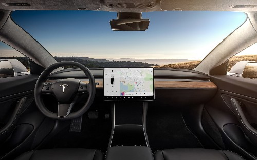 Here's our closest look at the Tesla Model 3 touchscreen yet