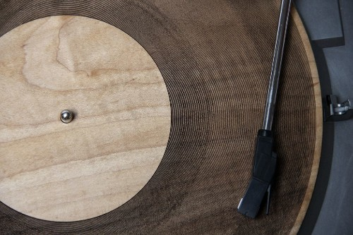 Hear the Velvet Underground fade to static on a laser-cut wooden record