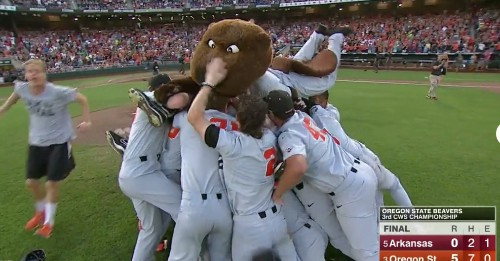 Oregon State wins College World Series with a freshman pitcher throwing a shutout