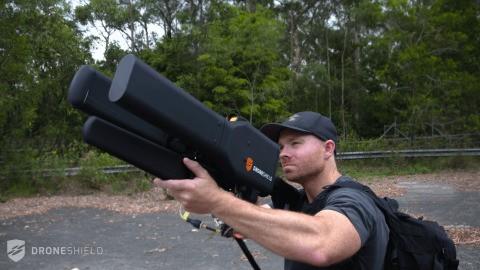 The Dronegun blocks radio signals to bring illegal drones down