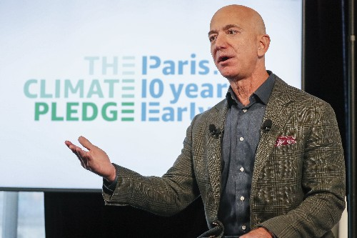 Jeff Bezos pledges that Amazon will swiftly combat climate change
